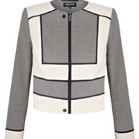 Per Una Speziale Cotton Rich Textured Panelled Jacket