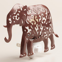 Handcrafted Metal Elephant Night-Light - World Market