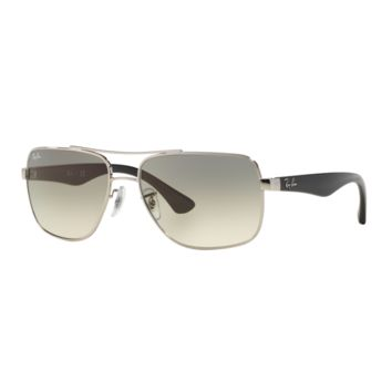 Ray Ban RB3483 003/32 Sunglasses Silver Black Frame Light Grey Gradient 60mm