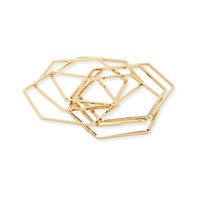 Hexagon Bangle Bracelets