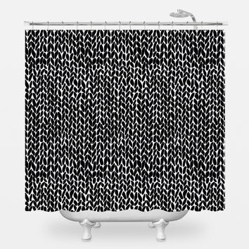 Hand Knit Shower Curtain