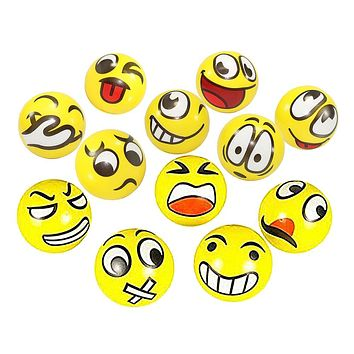 Fun Emoji Face Squeeze Balls Modern Stress Ball Relax Emotional Hand Wrist Exercise Stress Balls Toys