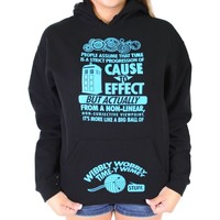 Doctor Who Time Womens Hoodie Black Small