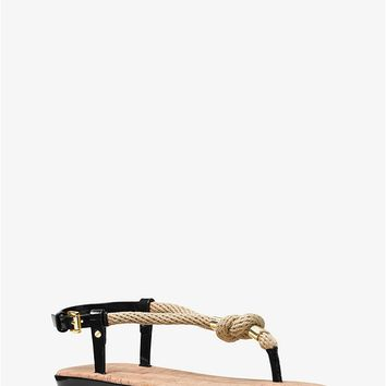Holly Rope-trim Sandal | Michael Kors