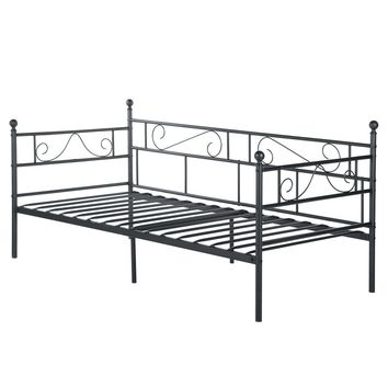 Twin Classic Metal Daybed Frame in Black