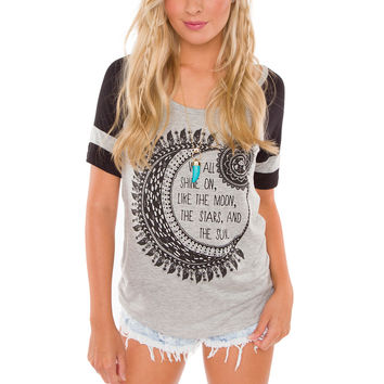We Shine On Like The Moon Top - Grey