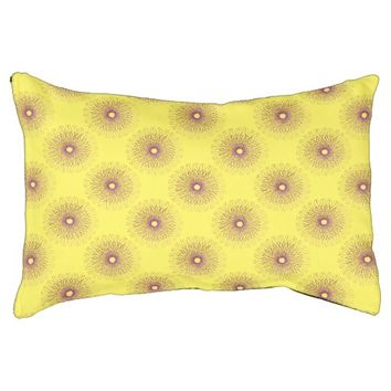 Spiro Purple Flower Dog Bed
