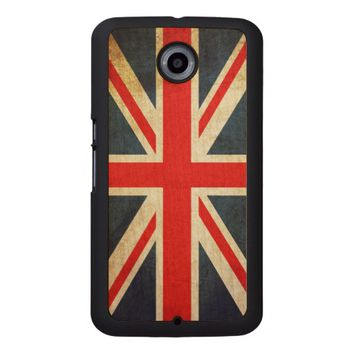 Vintage Union Jack British Flag Wood Phone Case
