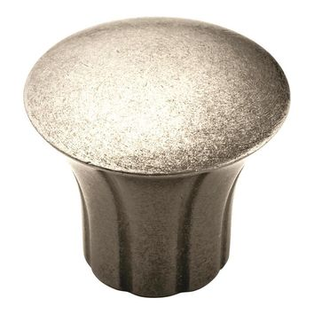 Amerock Vasari Transitional Antique Nickel Round Cabinet Knob
