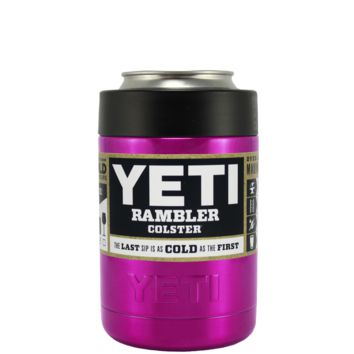 YETI Pink Translucent Colster Can Cooler & Bottle Insulator