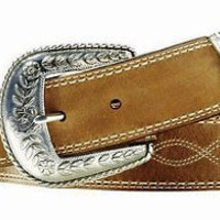 Ariat Women's Western Fat Baby 3 pc Leather Belt-Russet Rebel