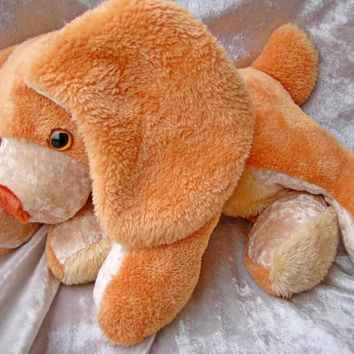 Stuffed Dog POODLE plush APRICOT Poodle soft toy orange puppy plush soft toy orange dog plushie pet handmade orange SPANIEL stuffed poodle