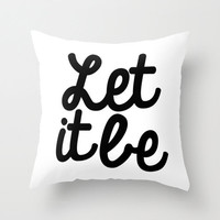 "Inspirational pillow cover, ""Let it Be"" throw pillow, apartment, dorm decor, home accessories, decorative pillow"