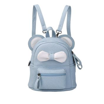 Cartoon Cute Kids Bags Bow PU Leather Small Backpack Girls Travel Backpacks Girl Schoolbag Back Pack