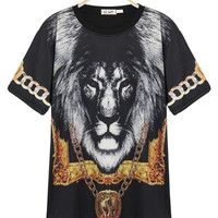 'The Lara' Lion Printed Tee