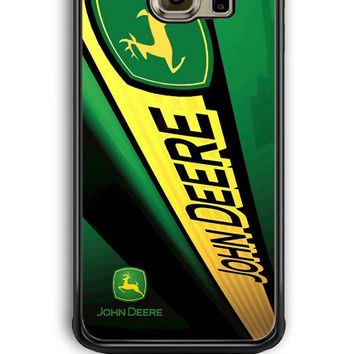 Samsung Galaxy S6 Edge Case - Hard (PC) Cover with john deere Plastic Case Design