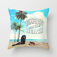 Summer Days Throw Pillow by Nicklas Gustafsson