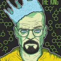 All Hail The King - Breaking Bad/Walter White inspired print by Deck