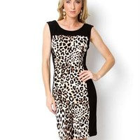 Voir Voir Leopard Print Dress - Career And Day Dresses - Modnique.com