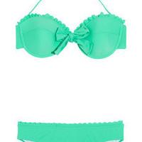 Miu Miu | Scalloped underwired bow bikini