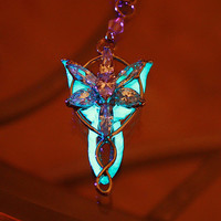 "Arwen Evenstar necklace ""GLOW in the DARK"" The Lord Of The Rings."