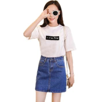 Denim Skirt Womens Short 2017 New Blue Saia Jeans Anti Emptied Female Skirt Shorts High Waist Jeans Skirts JoursNeige