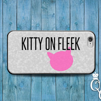 iPhone 4 4s 5 5s 5c 6 6s plus iPod Touch 4th 5th 6th Generation Cover Funny Girly Fleek Quote Kitty Cat Pink Girl Phone Case Cute Cool Fun