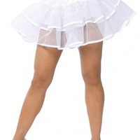 1 PC White Silver Edged Petticoat @ Amiclubwear costume Online Store,sexy costume,women's costume,christmas costumes,adult christmas costumes,santa claus costumes,fancy dress costumes,halloween costumes,halloween costume ideas,pirate costume,dance costum