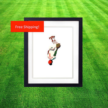 Ozzie Smith The Wizard St Louis Cardinals Baseball BackFlip Custom Print Gift for Man Cave or Office Saint Louis Busch Stadium Shortstop