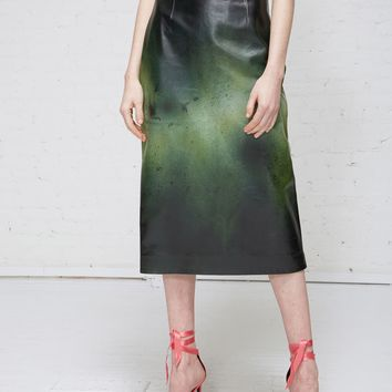 Totokaelo Painted Leather Skirt - New Arrivals - Womens