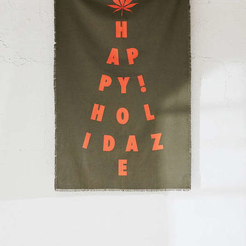 Happy Holidaze Holiday Tree Tapestry | Urban Outfitters