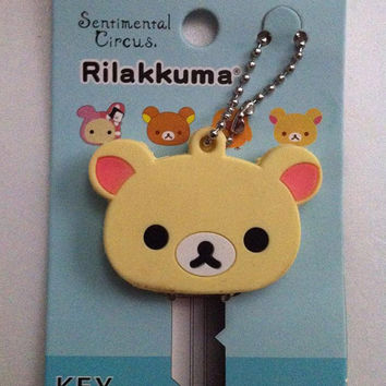 New Kawaii San- X Rilakkuma Key Cap Japan Sanrio Yellow Duck Chick Pink Sentimental Circus Brown Yello Bear