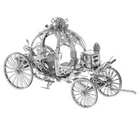Disney Parks Cinderella Carriage Metal Model Kid 3D New
