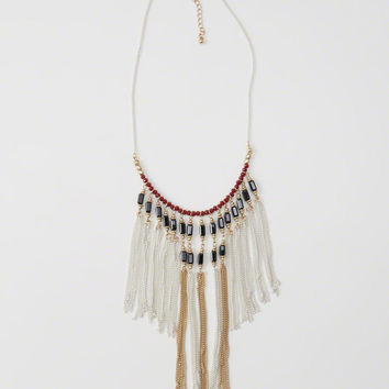 Womens Statement Fringe Necklace | Womens Accessories | Abercrombie.com