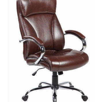 High Back Leather Executive Ergonomic Office Desk Chair with Back  & Arms Support