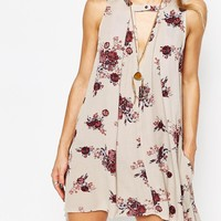 Free People Sleeveless Swing Dress in Washed Stone
