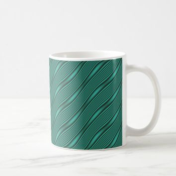 Teal Waves Coffee Mug