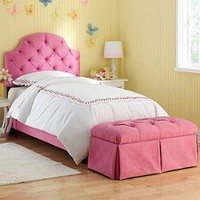 Costco - Pink Ellie Tufted Full Bed with Bench