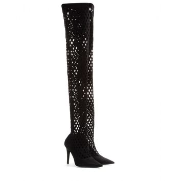 tamara mellon - duty free high suede over-the-knee boots