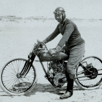 c.1921 Motorcycle Racer- 998cc READING STANDARD Moto- Peter Fano  - : Old Antique Vintage Photograph Photo Print *Reproduction*