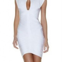 White Sexy Dress - L-H083 White Sleeveless Party Dress | UsTrendy