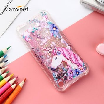 Vanveet Soft Cases For Apple iPod Touch 5 6 Case Toch5 5th Toch6 6th Patterned Glitter Cover Dynamic Liquid Bag Fundas Coque Bag