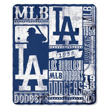 Los Angeles Dodgers MLB Light Weight Fleece Blanket (Strength Series) (50inx60in)