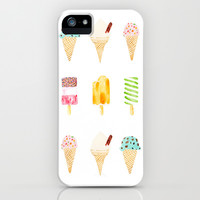 ice cream selection iPhone & iPod Case by Cardboardcities
