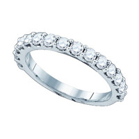 Diamond Fashion Ring in 10k White Gold 1 ctw