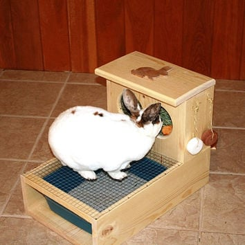 Bunny Rabbit Hay Feeder With Built in Litter Box
