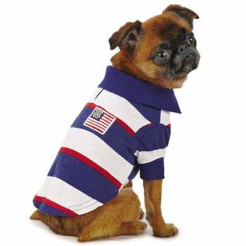 Zack and Zoey Patriotic Polo Dog Shirt