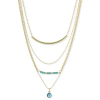 Turquoise Gold Layer Necklace