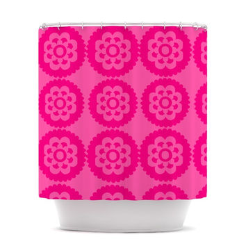 "Nicole Ketchum ""Moroccan Hot Pink"" Shower Curtain"
