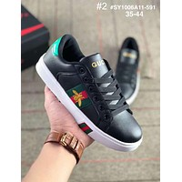 GUCCI tide brand female embroidery bee casual fashion sports white shoes #2
